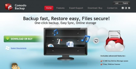 backup from comodo