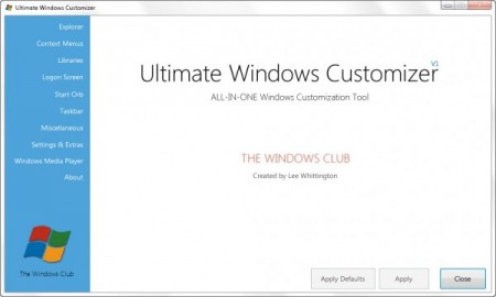 Customize Windows with Ultimate Windows Customizer