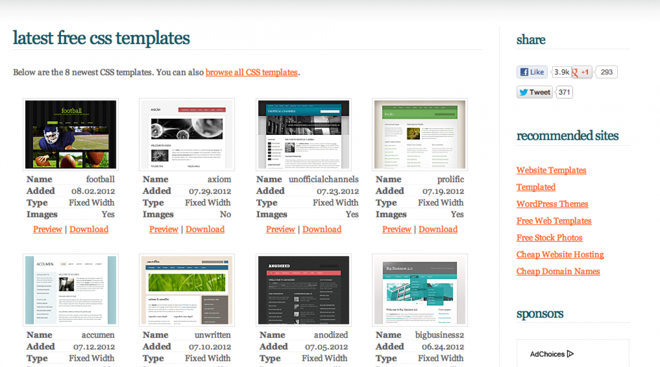 15 Best Sites to Download Free Web Templates