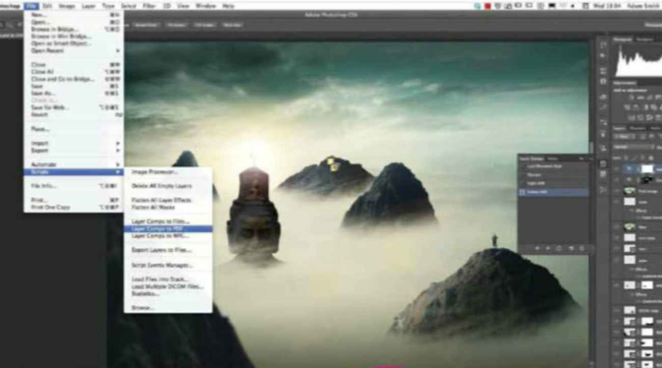 How to Use Layer Comps in Photoshop CS6