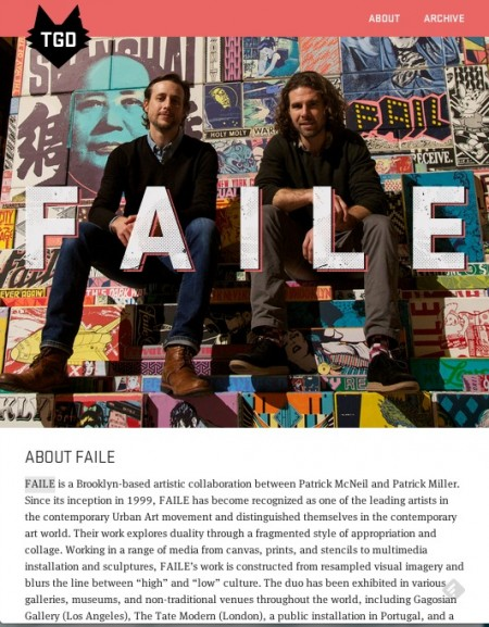 responsive web design - faile