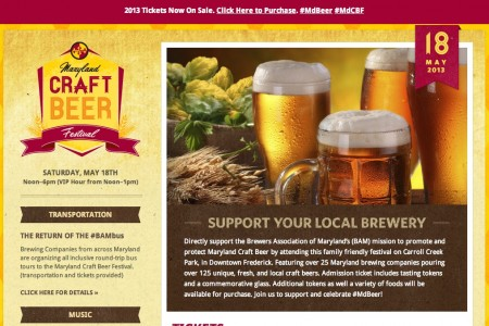 responsive web design - maryland craft beer festival