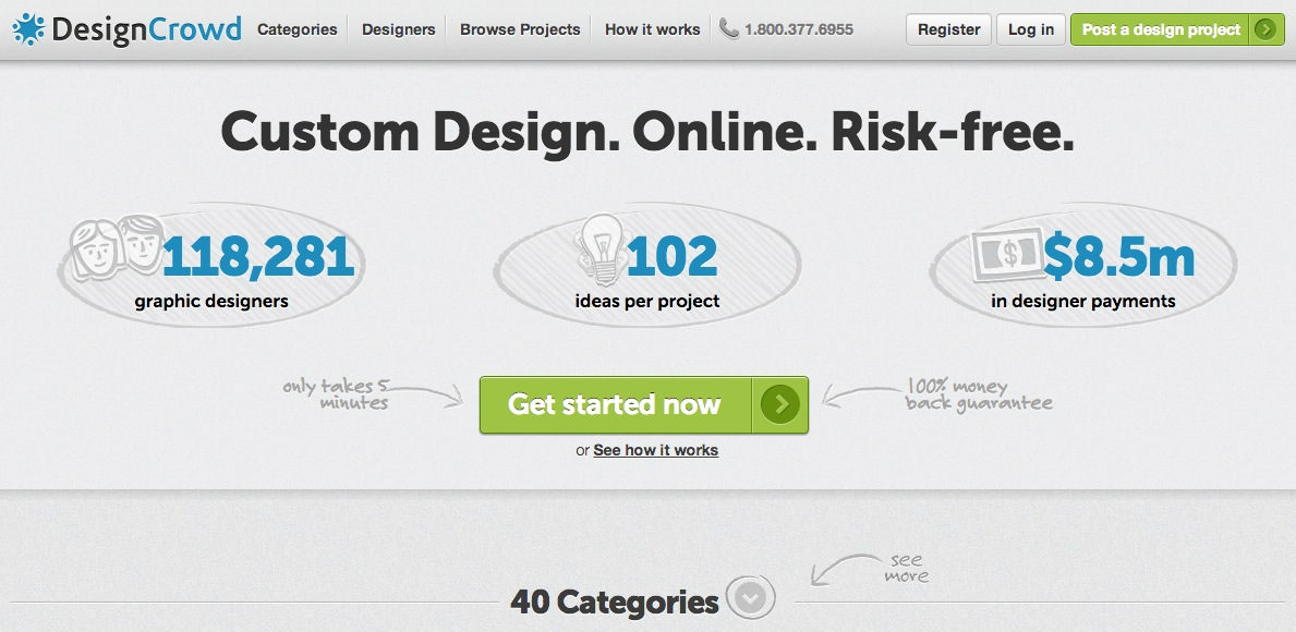 design crowd website screenshot