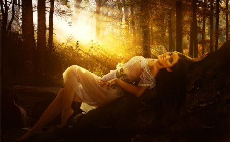Romantic and Warm Portrait Photo Manipulation