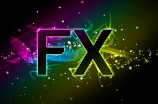 Abstract FX Text Effect