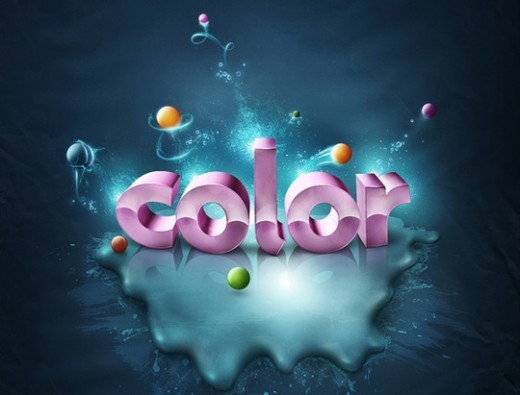 Fantastic Color to 3D Text