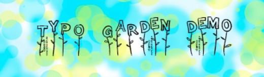 Font - Typo garden demo
