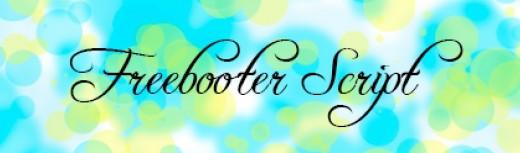 Font -freebooter script