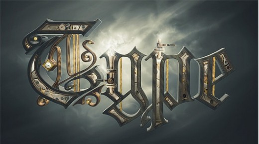 Steam Powered Typographic Treatment