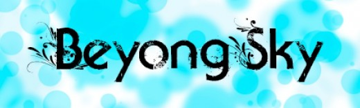 font - Beyond sky