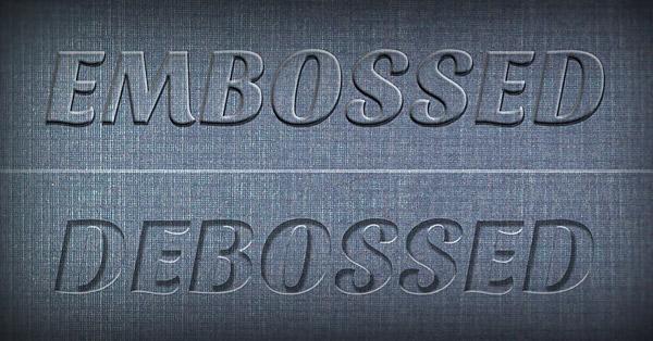 Create a Realistic Emboss & Deboss Effect