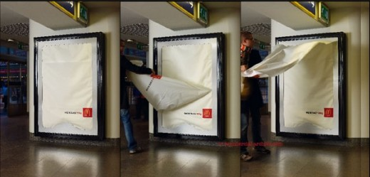 Billboard as a Giant Napkin Dispenser