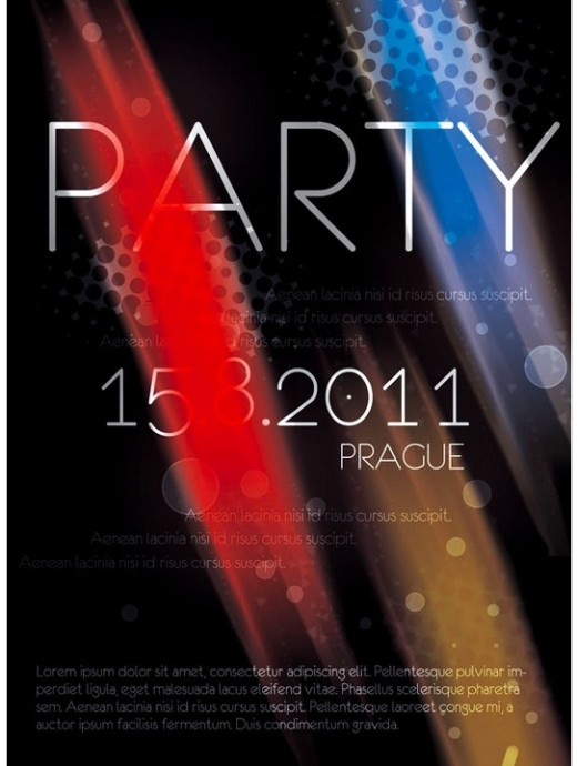 Prague Party Flyer PSD