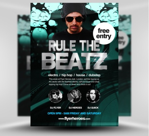 Rule the Beatz Flyer Template