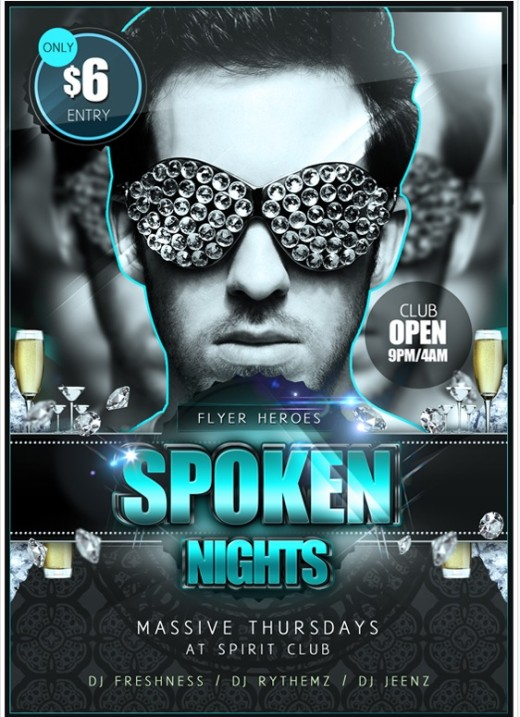 Spoken Nights PSD Flyer Template