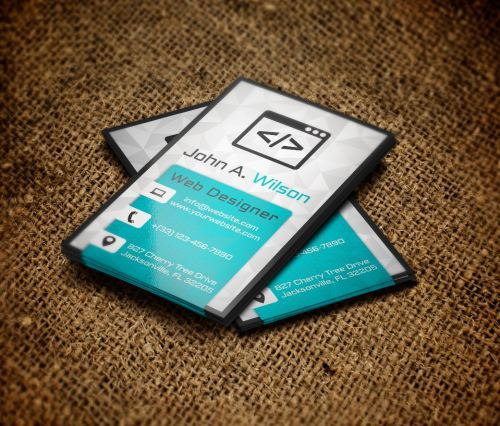 9 free psd business card templates free business card modern template feel free to use it as it is or modify cheaphphosting Gallery