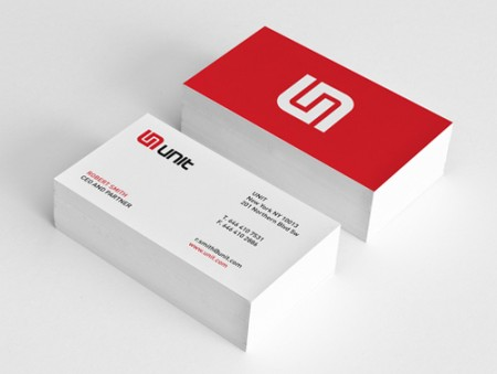 unit minimal business card design image source graphicdesignjunction - Business Cards Design Ideas