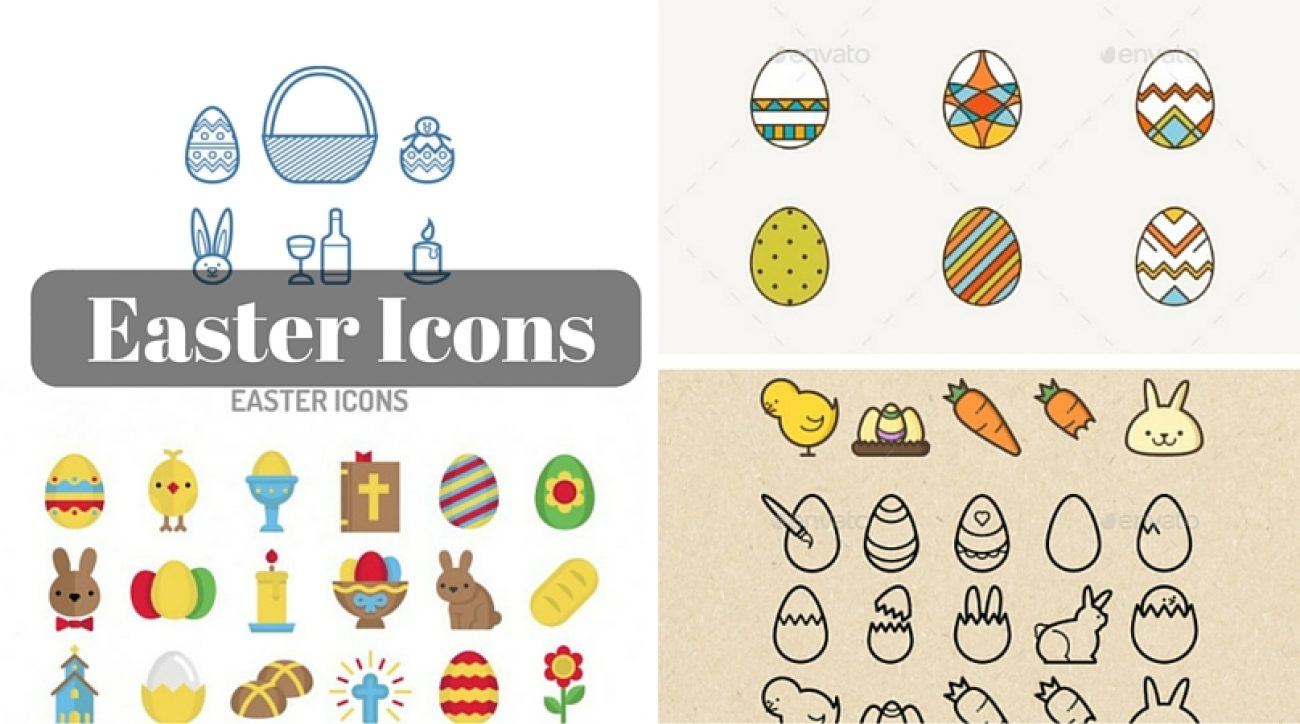 Easter Icons - A Set of Free, few paid Icons and Graphics on Easter