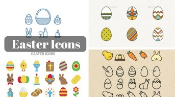 Easter Icons – A Set of Free, few paid Icons and Graphics on Easter