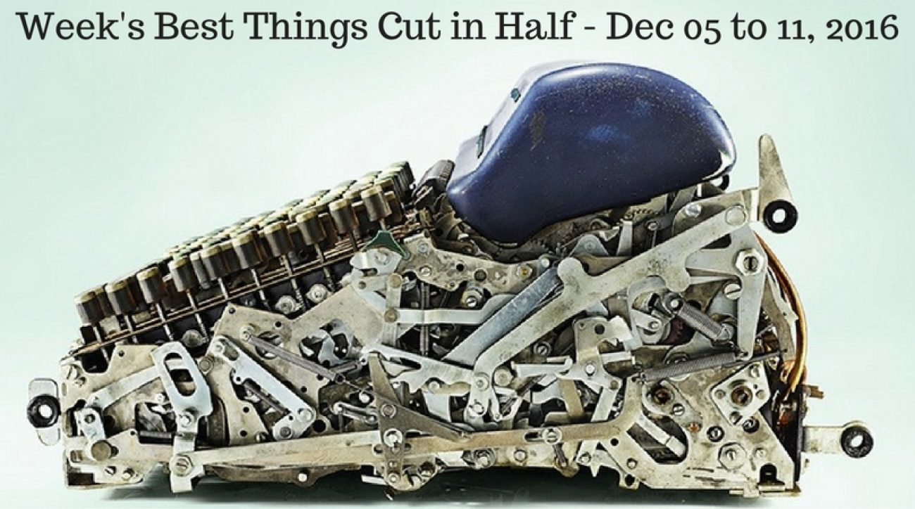 Week's Best Things Cut in Half - Dec 05 to 11, 2016